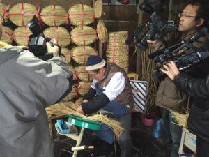 職人さんが藁から手作りする桟俵